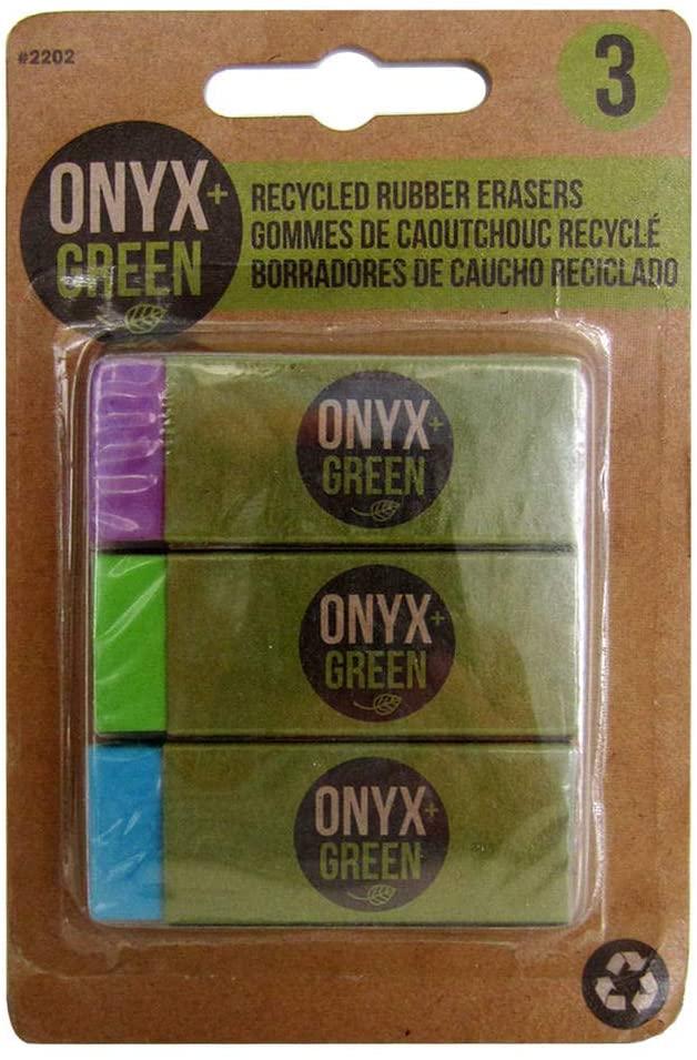 Onyx Green Erasers