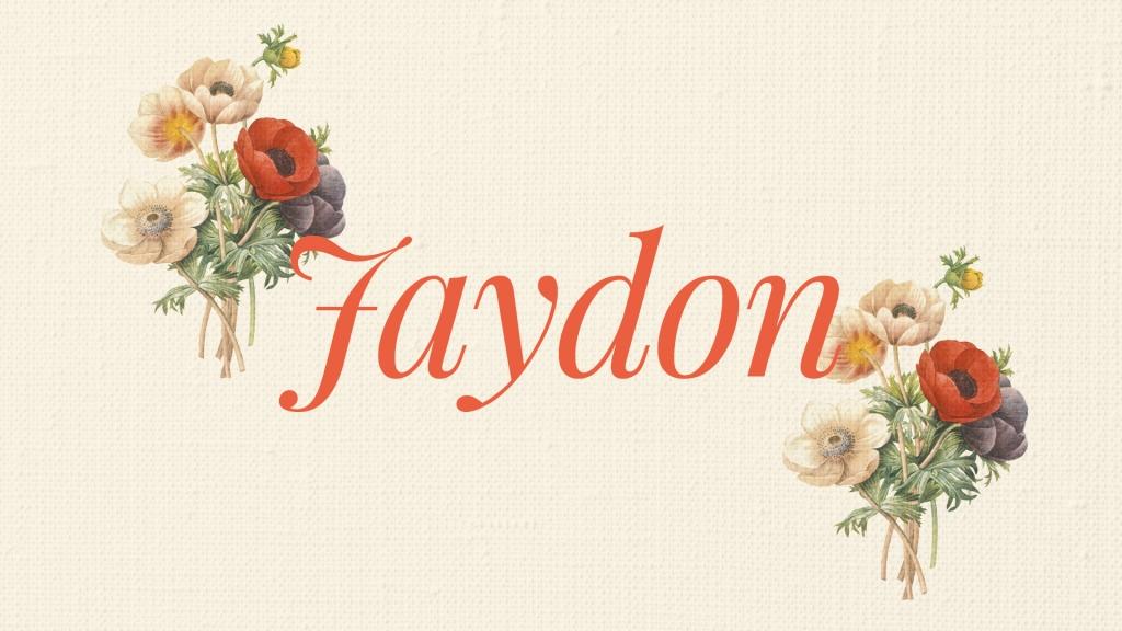 Uncommon spellings of baby names Jaydon