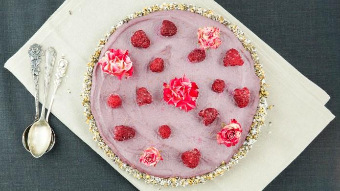 Vegan Raspberry Tart; Shutterstock ID 1140060374;
