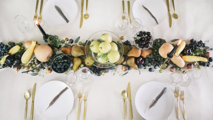 Edible table runner