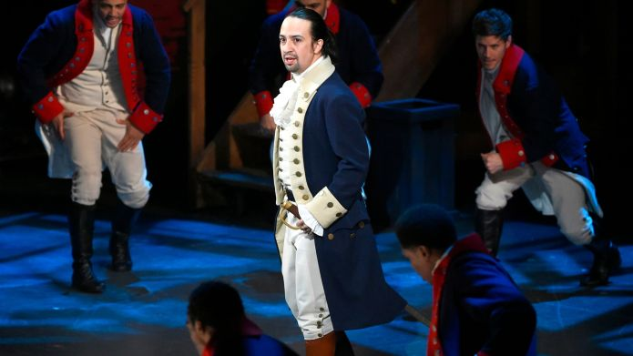 Lin-Manuel Miranda and the cast of