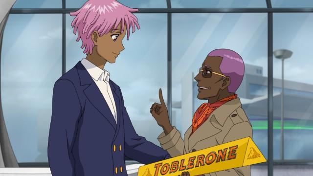 Still from 'Neo Yokio: Pink Christmas'