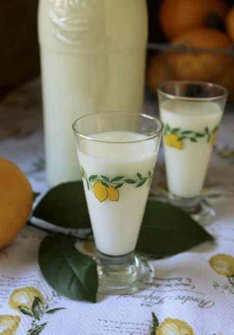 Homemade Crema di Limoncello