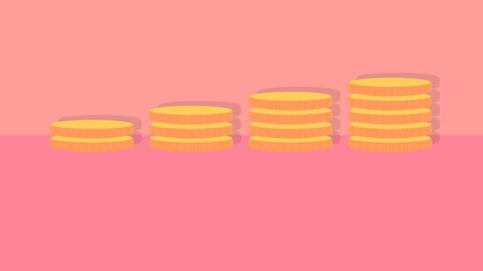 Stack of money savings