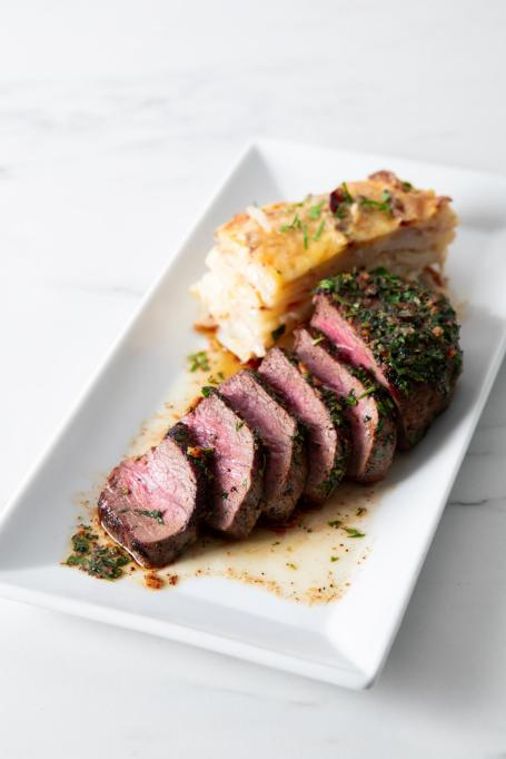 Bison Steak With Herbed Brown Butter