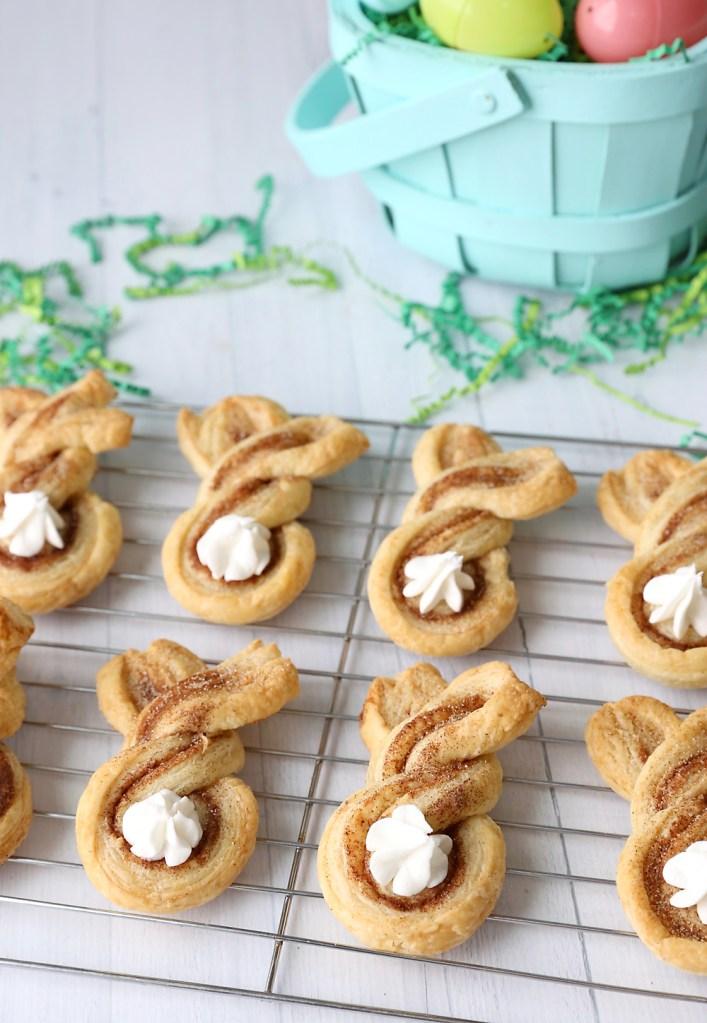 Cinnamon-sugar Easter bunny twists.