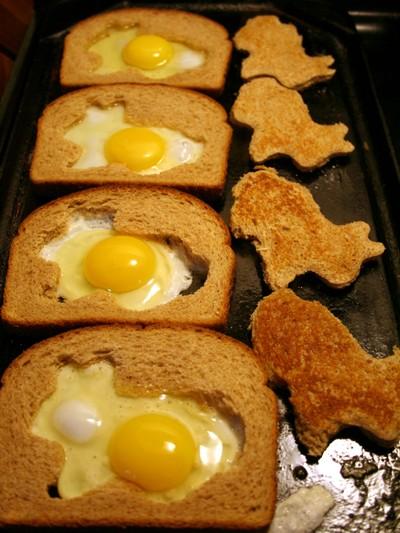Egg in a nest breakfast.
