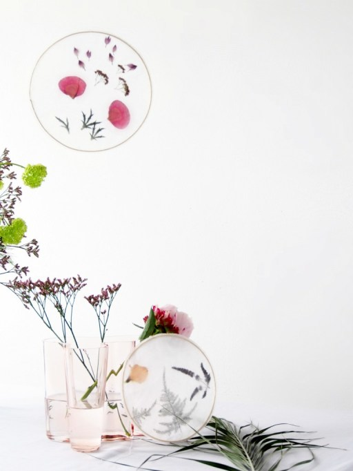 DIY Hanging Floral Suncatchers
