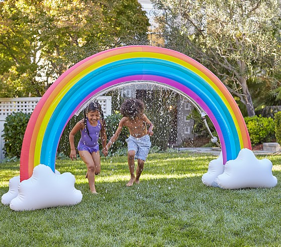 The Most Epic Summer Water Toys for Hours of Backyard Fun: Inflatable Sprinkler Rainbow