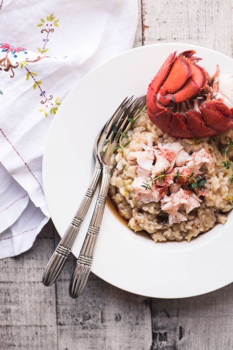 Instant Pot lobster risotto