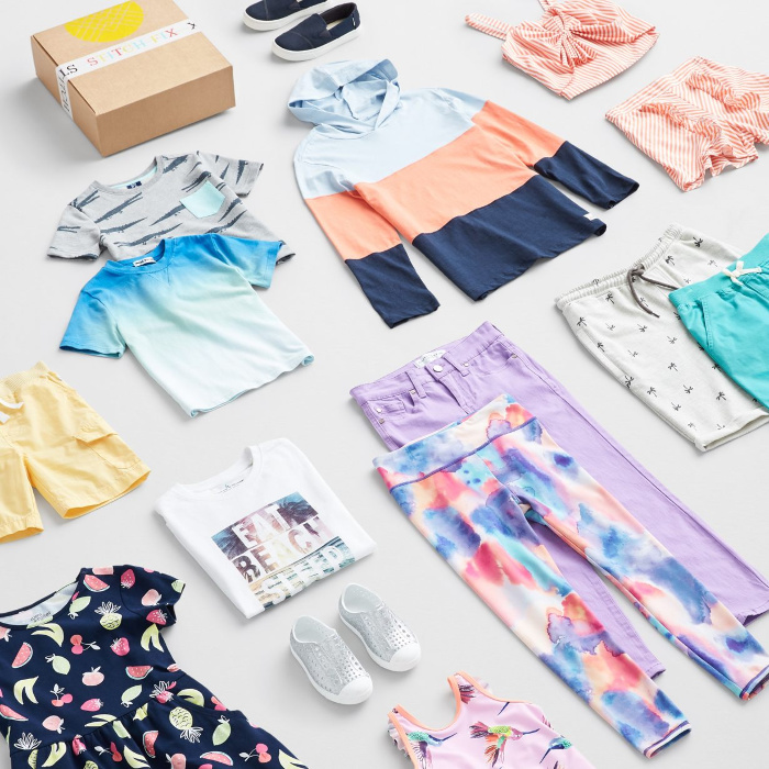 Stitch Fix selection of children's clothing