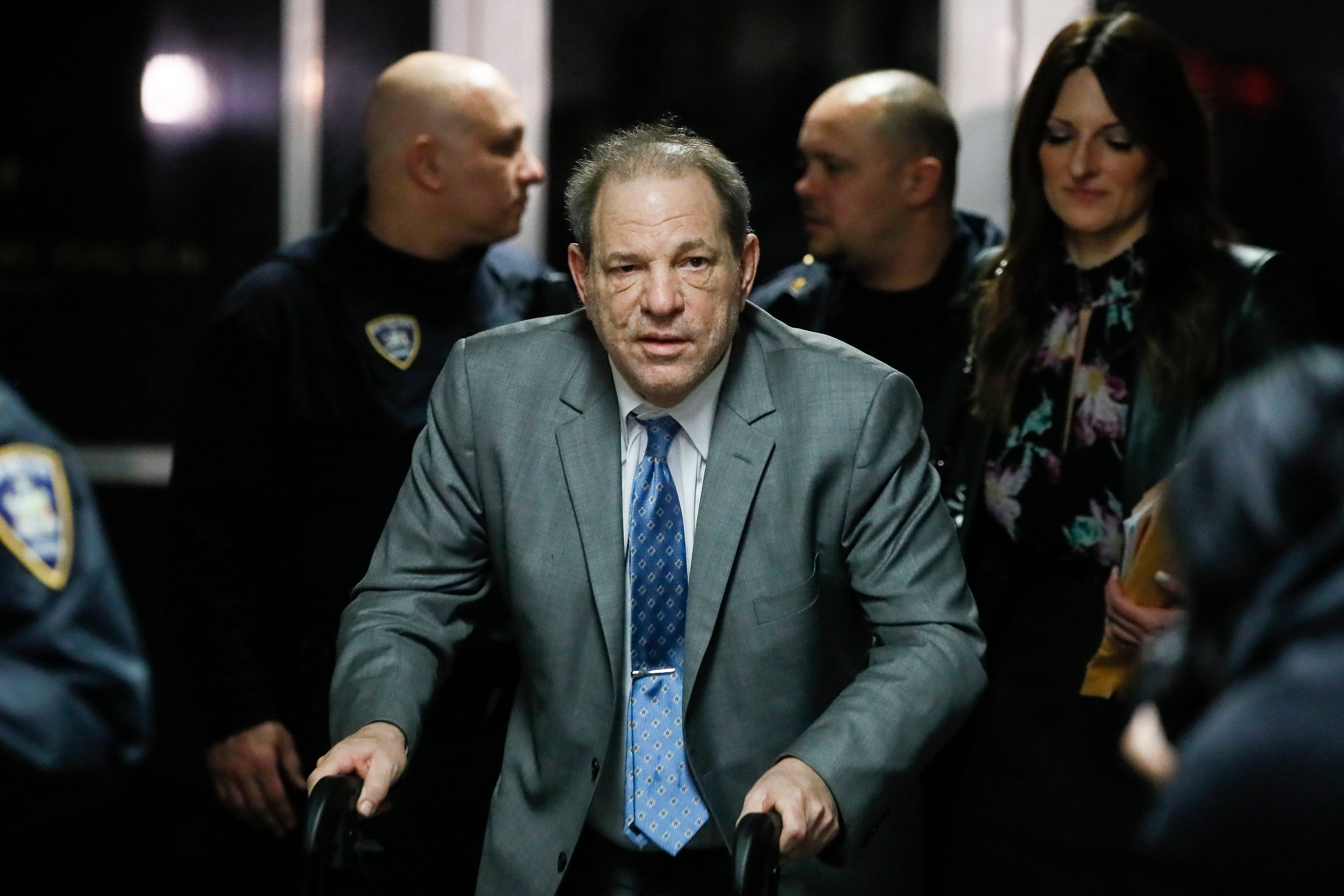 Harvey Weinstein leaves a Manhattan courthouse during his rape trial, in New YorkSexual Misconduct Weinstein, New York, USA - 18 Feb 2020
