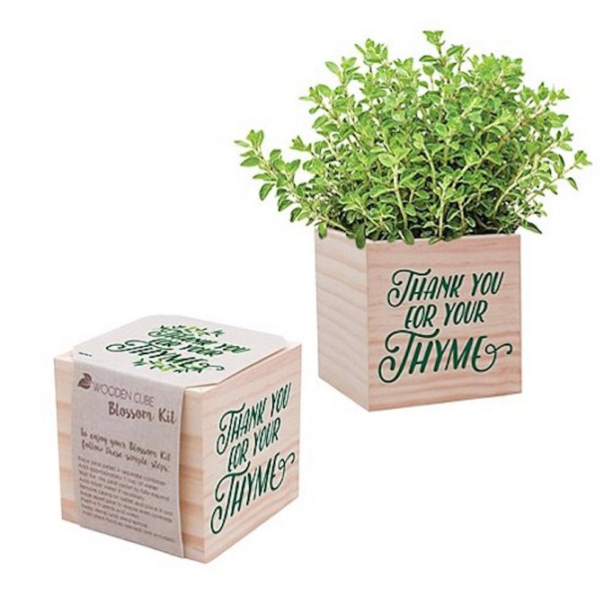Baudville Thank You for Your Thyme Plant Cube