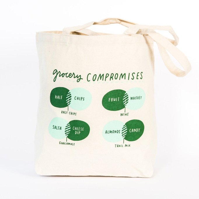 Emily McDowell Grocery Compromises Tote Bag