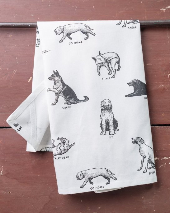 Fishs Eddy Dogs Dish Towel