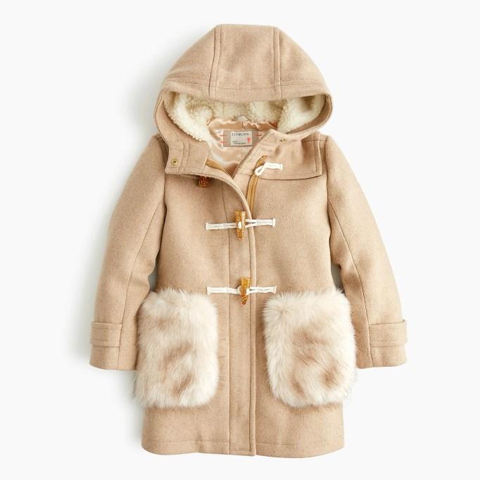 Girls' toggle coat