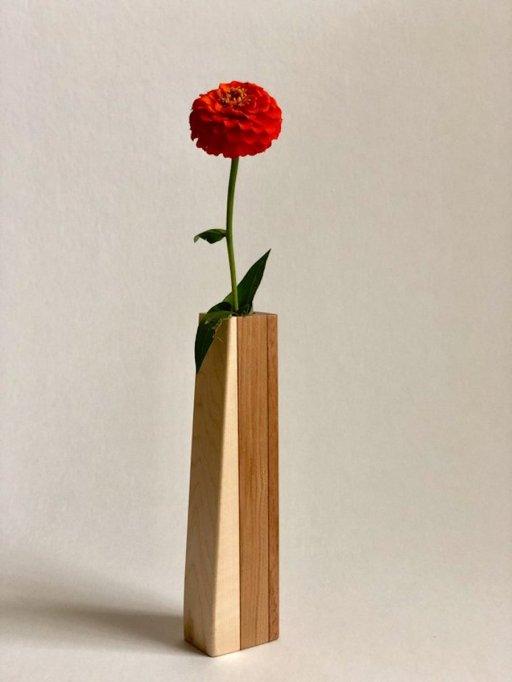 Sand Woodworking Handmade Wooden Bud Vase