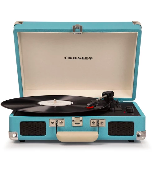 Crosley record player blue