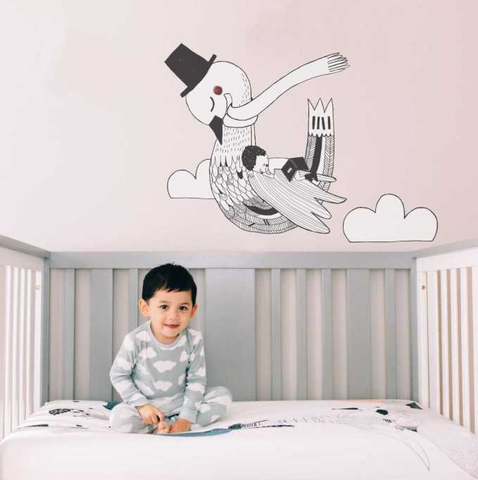 Unique Nursery Decor: Swan wall decal from Rookie Humans