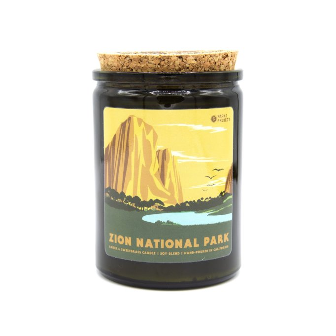 Zion National Park Sweetgrass & Amber Candle Parks Project
