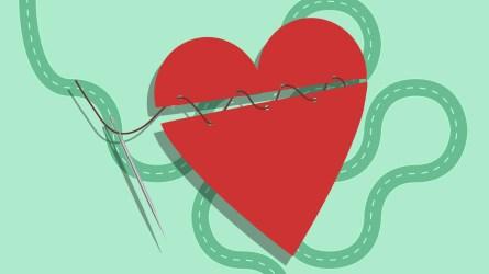 Illustration of broken heart