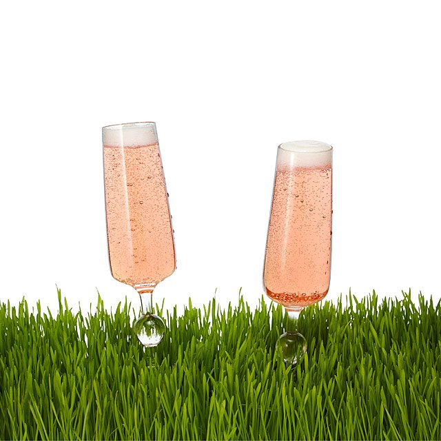 Outdoor champagne glasses