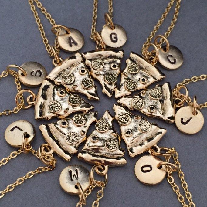 Pizza necklaces