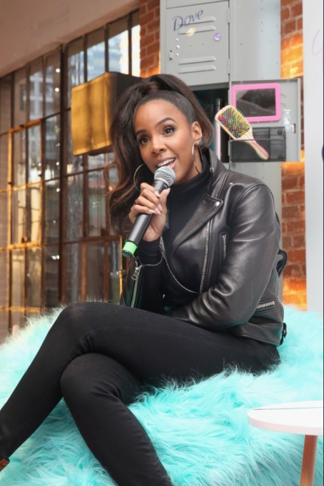 Kelly Rowland at a Dove event in Los Angeles in February