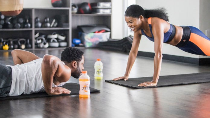 Gabrielle Union and Dwyane Wade workout