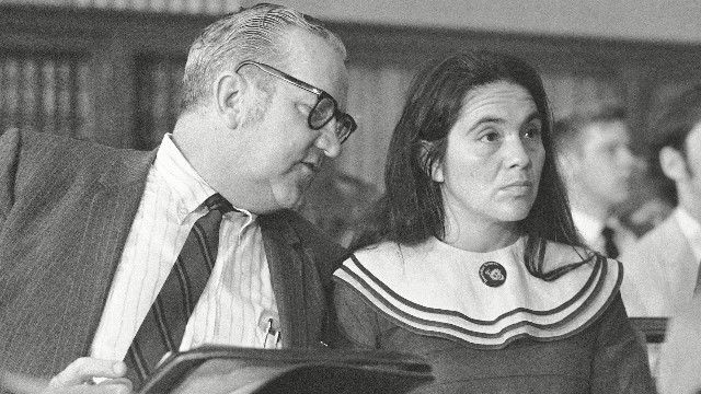 Dolores Huerta at a Senate Labor subcommittee meeting in 1969