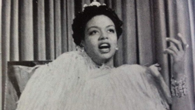 Hazel Scott in still photo from 'Rhapsody in Blue'