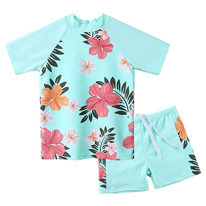 This Season's Best Swimsuits for Kids: Two Piece Rash Guard