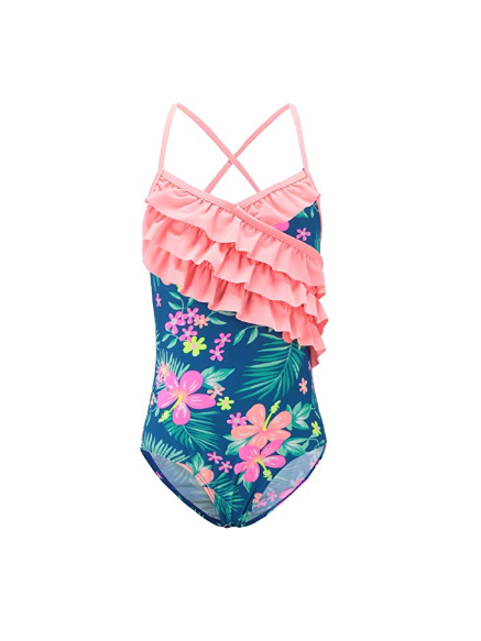 This Season's Best Swimsuits for Kids: Hawaiian Hibiscus Ruffles