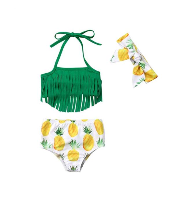 This Season's Best Swimsuits for Kids: Pineapple Fringe Bikini