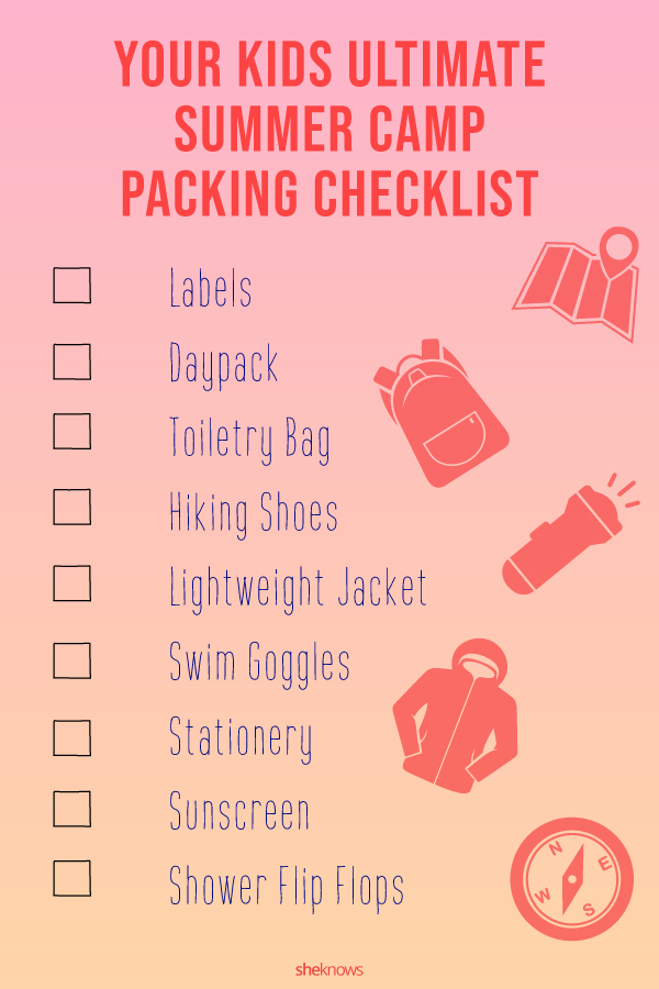 Summer Camp Packing Checklist