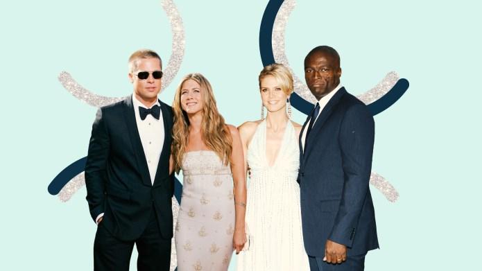 Brad Pitt, Jennifer Aniston, Heidi Klum,