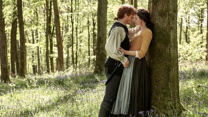 Sam Heughan, Caitriona Balfe in 'Outlander'