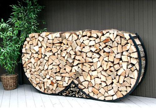 Double round firewood rack
