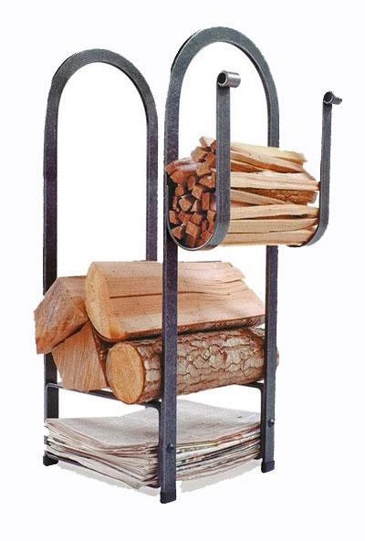 Enclume fire center firewood rack