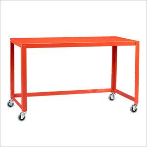Go-cart bright orange desk