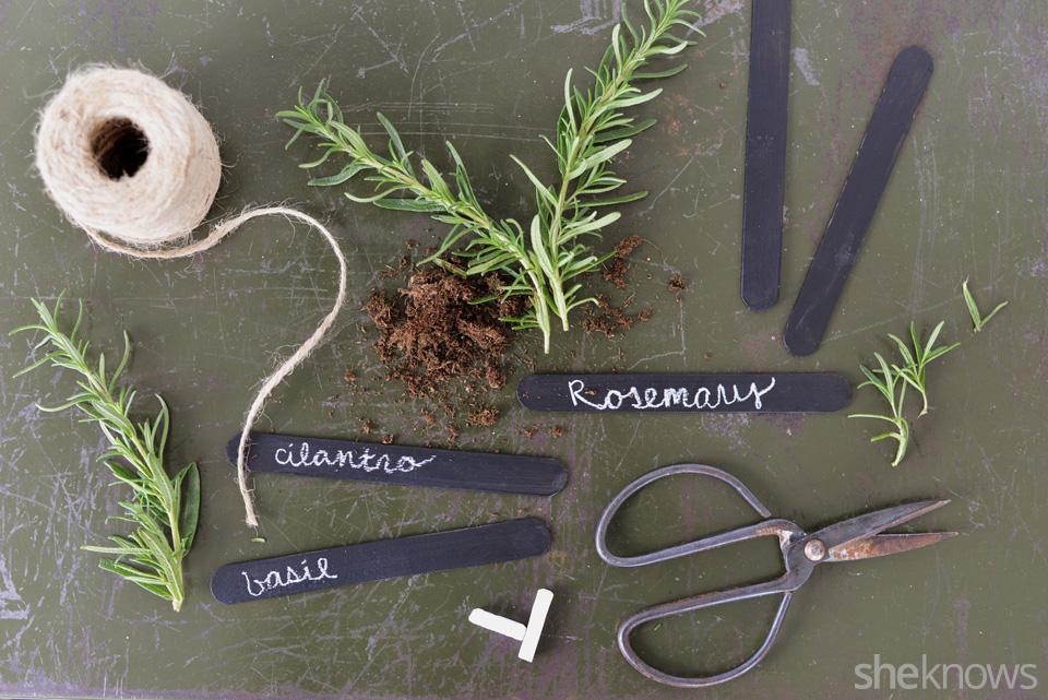 DIY chalkboard garden markers: Step 5 | Sheknows.com