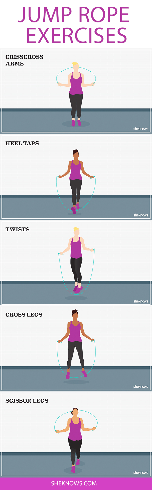 Pin it! Jump rope exercises