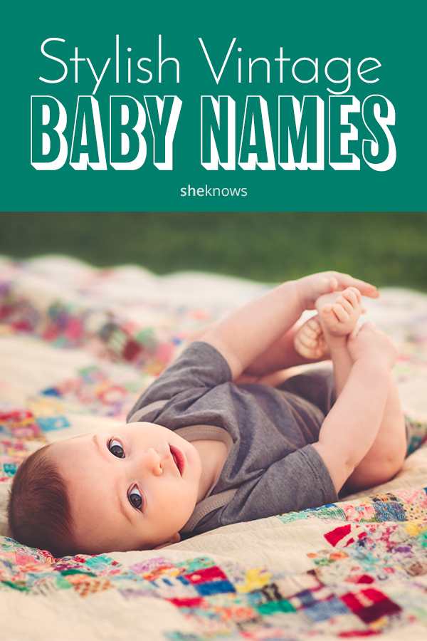 Pin it! Vintage baby names