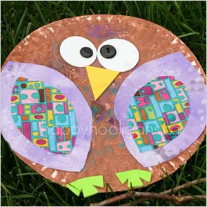 Paper plate owl craft | Sheknows.com