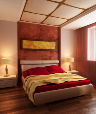 Red And Yellow Bedroom Decor
