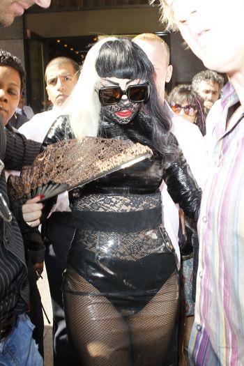 Lady Gaga leaving the Sirius Radio