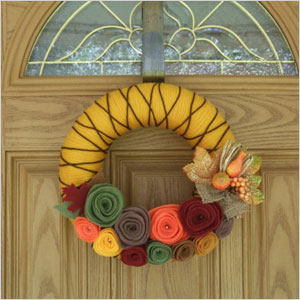 Fall spice wreath