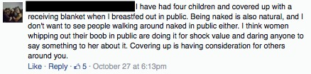 comment about breastfeeding