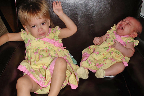 Baby photo fails - Matching outfits gone wrong