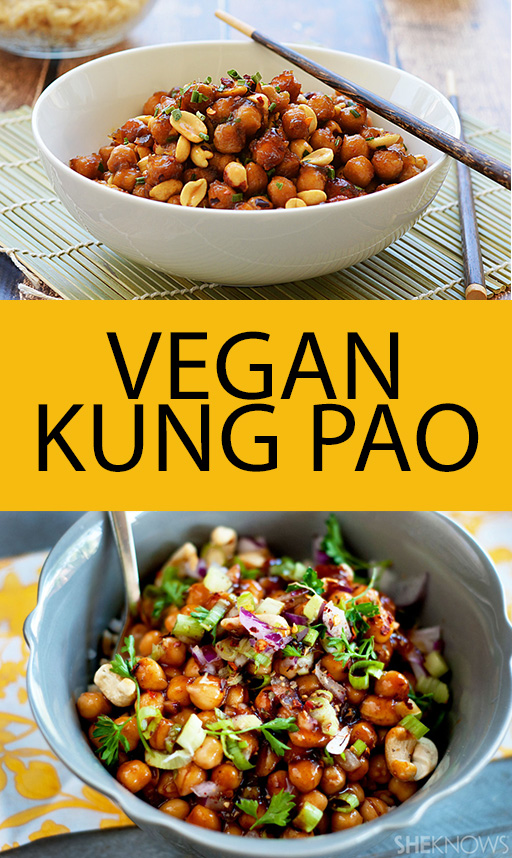 Pin it! Kung pao chickpeas